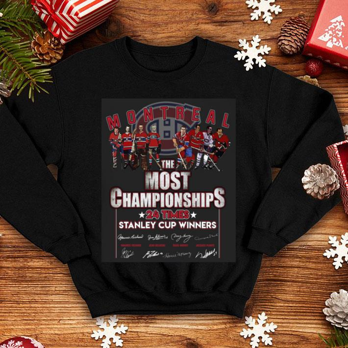 Montreal The Most Championships 24 Times Stanley Cup Winners shirt