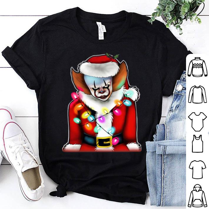 - Pennywise Santa Claus Christmas lights IT shirt