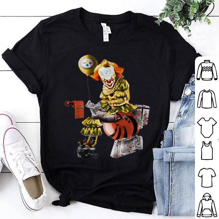 - Pennywise Steelers Cleveland Browns Cincinnati Bengals toilet shirt