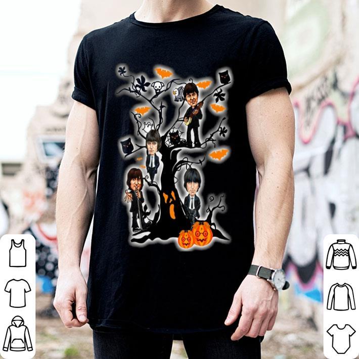 - The Beatles ghost boo pumpkin on the tree Halloween shirt