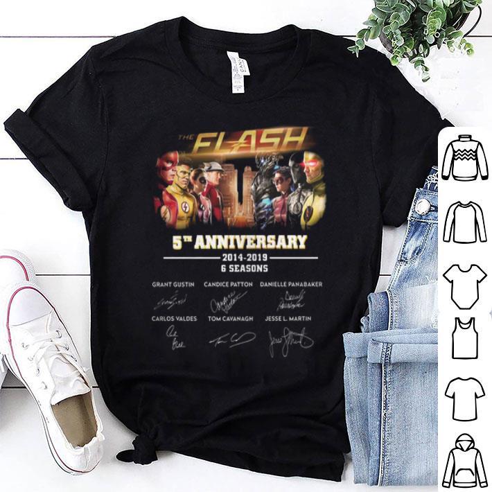 - The Flash 5th anniversary 2014-2019 6 seasons signatures shirt