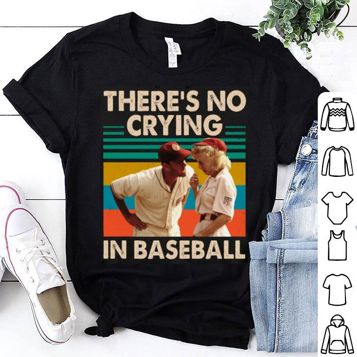 Tom Hanks There's no crying in baseball vintage shirt