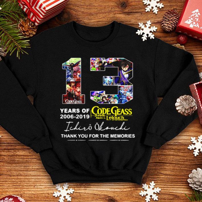 13 Years Of Code Geass 2006 2019 Ichiro Okouchi Signature shirt