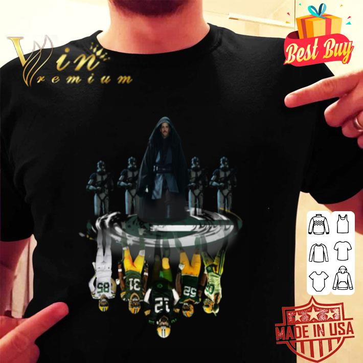 - Aaron Rodgers reflection water mirror Green Bay Packers shirt