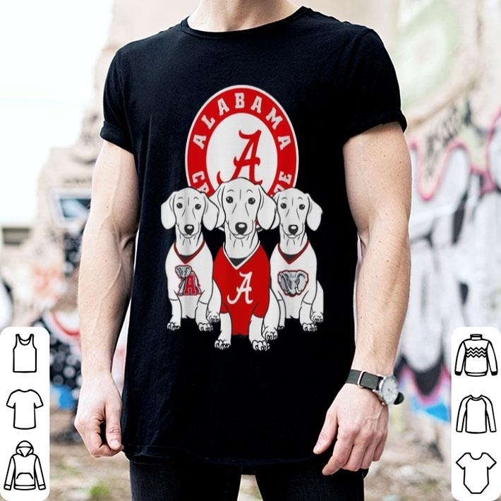 - Alabama Crimson Tide Dachshund dog shirt