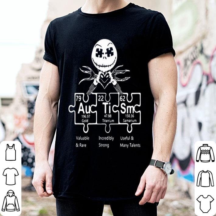 Autism Jack Skellington periodic table shirt