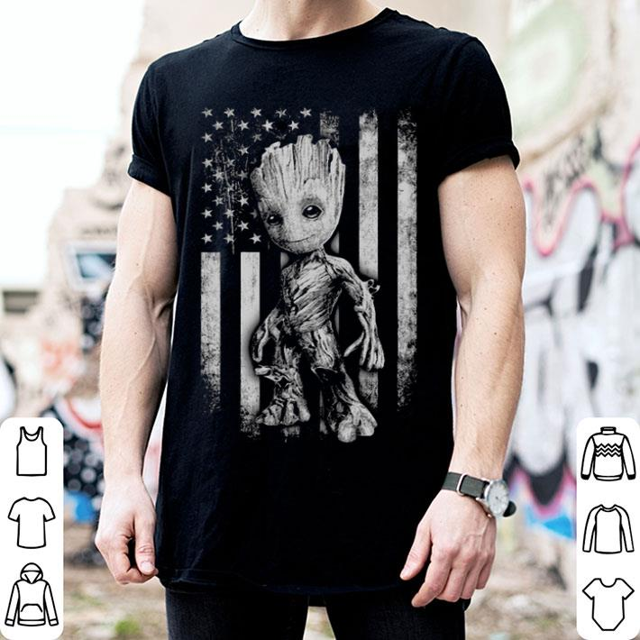 - Baby Groot American flag Marvel shirt