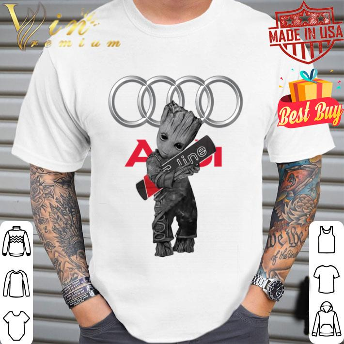 Baby Groot hug Audi S-Line shirt