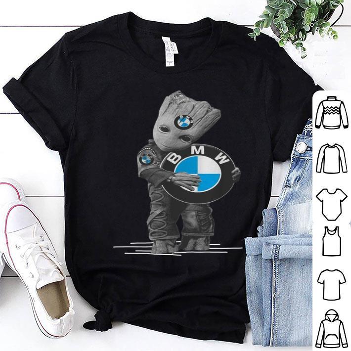 - Baby Groot hug BMW logo shirt