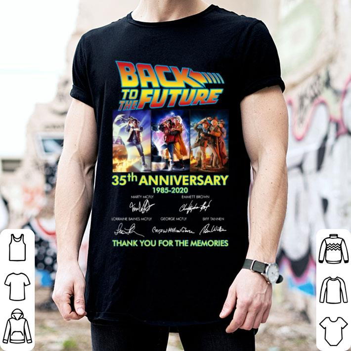 Back to the future 35th anniversary 1985-2020 signatures shirt