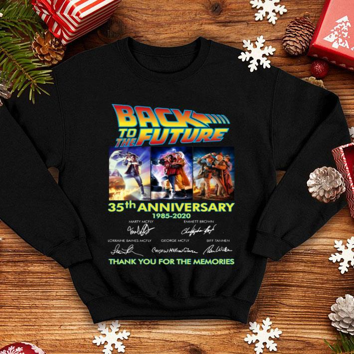 - Back to the future 35th anniversary 1985-2020 signatures shirt