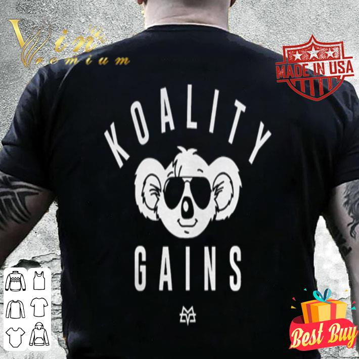 Calum von moger motivational koality gains shirt