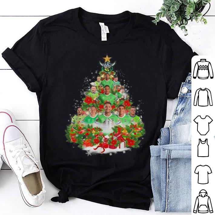 - Canberra Raiders players Christmas trees shirt