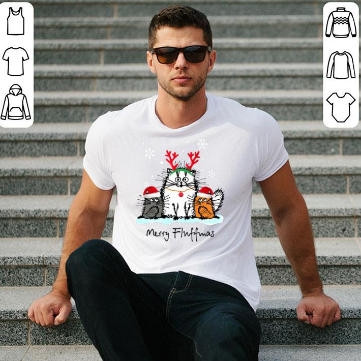 - Cat Merry Fluffmas Christmas shirt