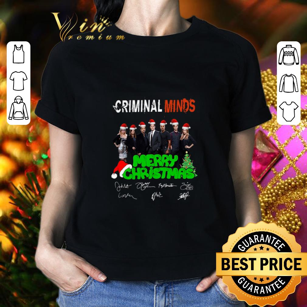 - Cheap Criminal Minds Merry Christmas Signatures shirt