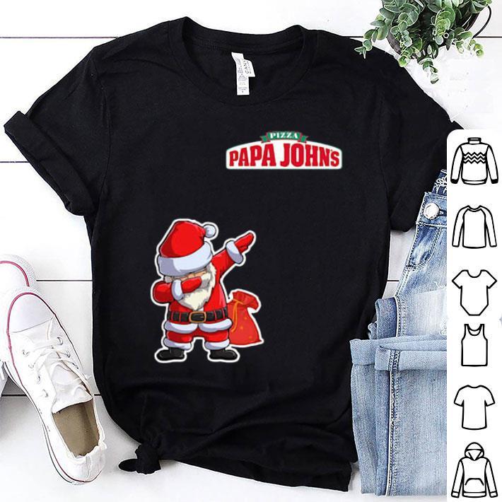 Dabbing Santa Pizza Papa John's shirt