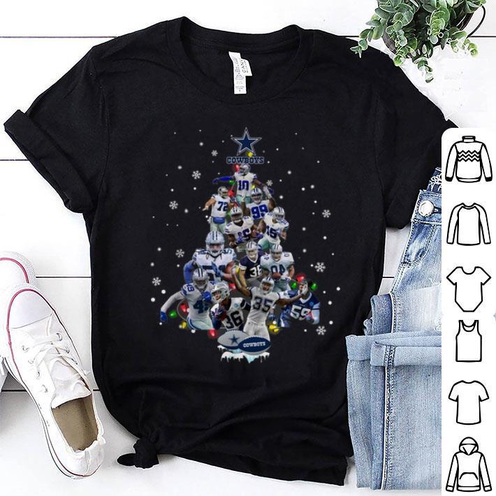 - Dallas Cowboys all player Christmas Tree shirt