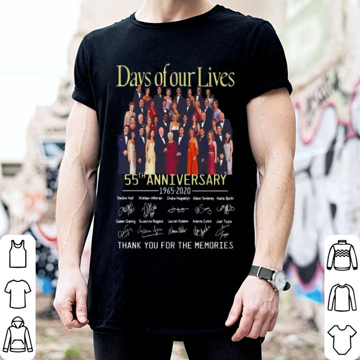 Days of our Lives 55th Anniversary 1965-2020 signatures shirt