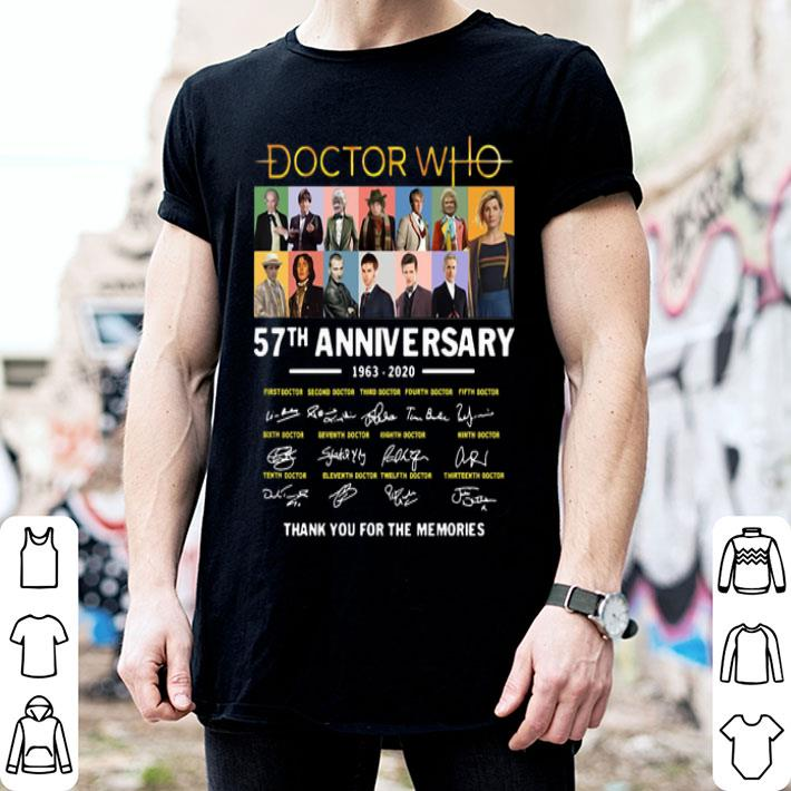 Doctor Who 57th anniversary 1963-2020 thank you for the memories shirt