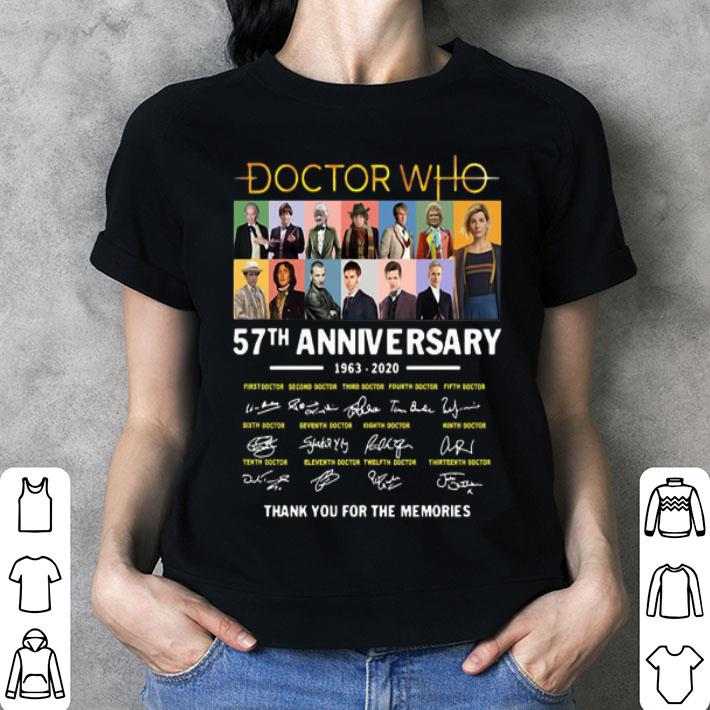 - Doctor Who 57th anniversary 1963-2020 thank you for the memories shirt