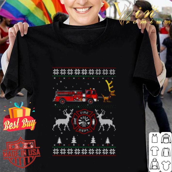 - Firefighter fire dept Ugly Christmas shirt