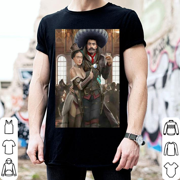 - Frida Kahlo Emiliano Zapata Mexican Cantina shirt