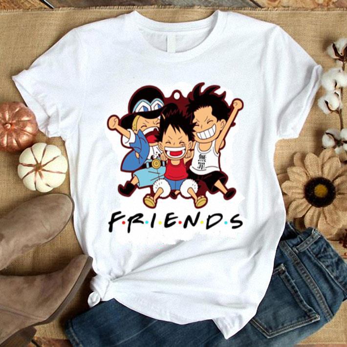 - Friends Luffy Zoro Sanji chibi shirt