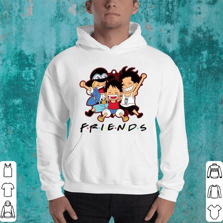Friends Luffy Zoro Sanji chibi shirt
