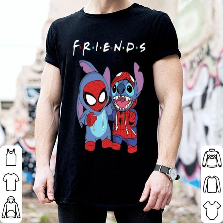 Friends baby Spider Man and Stitch shirt