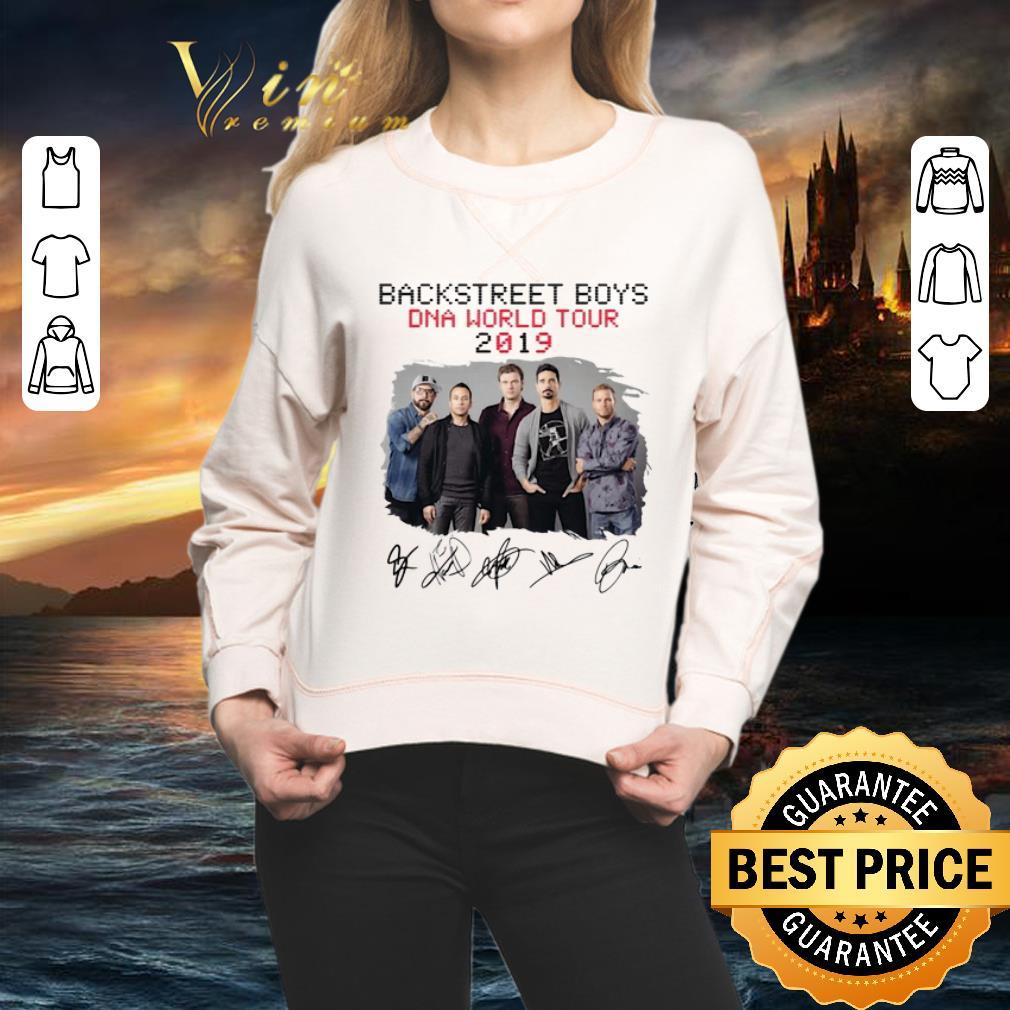 - Funny Backstreet Boys Dna World Tour 2019 Signatures shirt