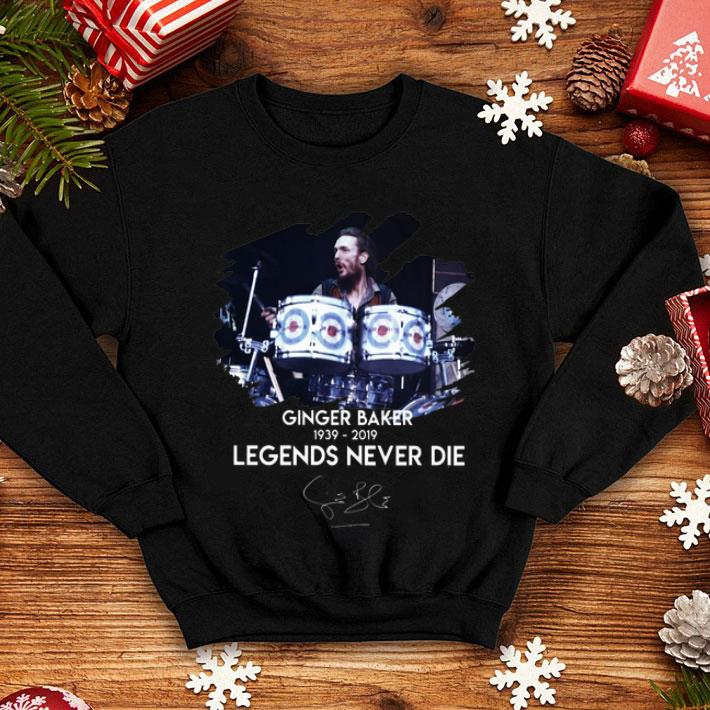 Ginger Baker 1939-2019 legend never die signature shirt