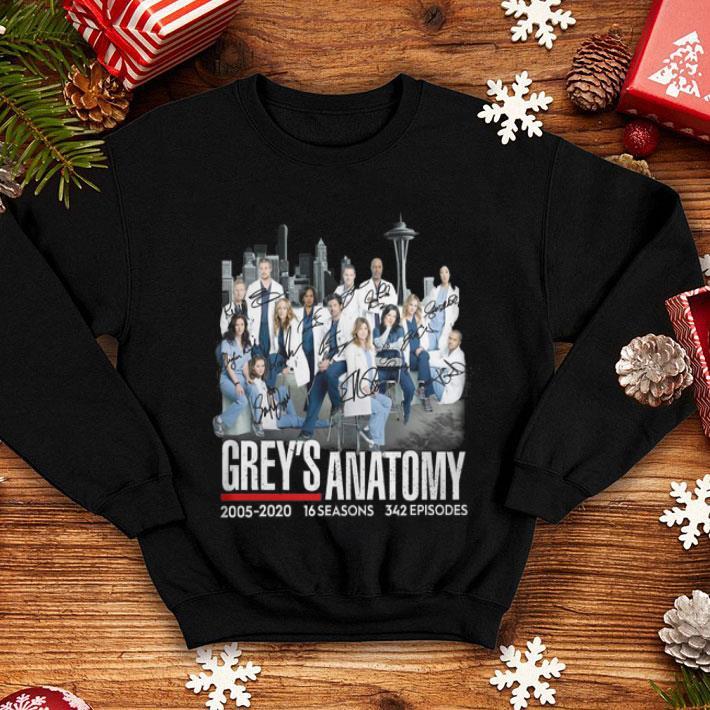 Grey's Anatomy 2005-2020 16 seasons 342 episodes signatures shirt