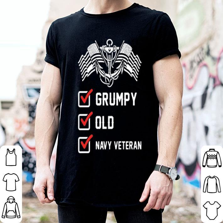 - Grumpy Old Navy Veteran Anchor shirt