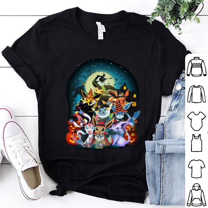 - Halloween Eevee Evolution Pokemon shirt
