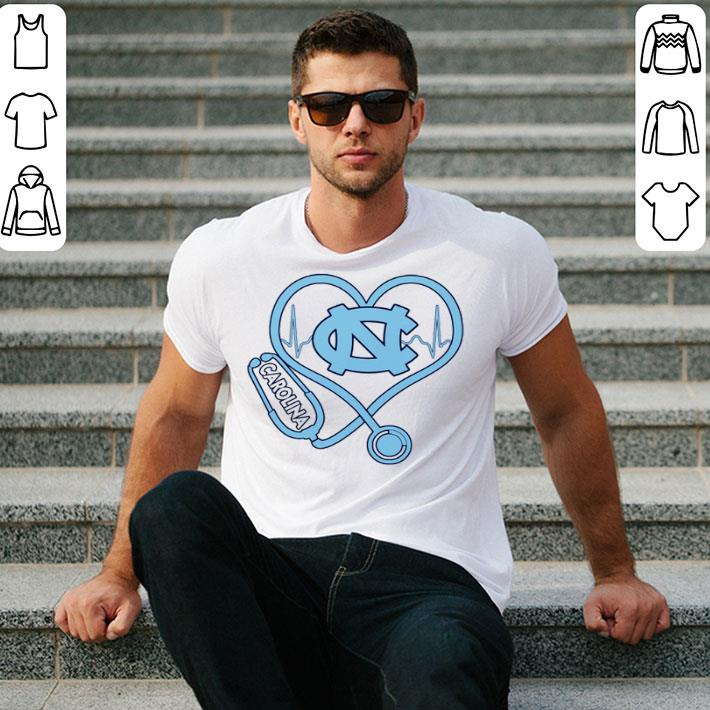 - Heartbeat Nurse love North Carolina Tar Heels shirt