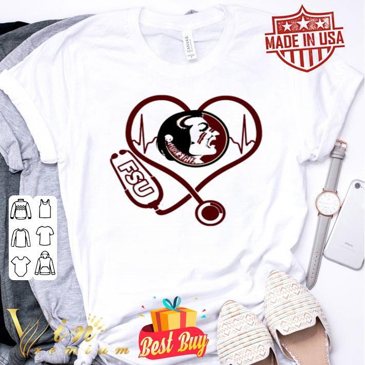- Heartbeat love Florida State Seminoles nurse shirt