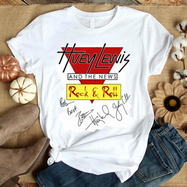 - Huey Lewis and the news Rock & Roll signatures shirt