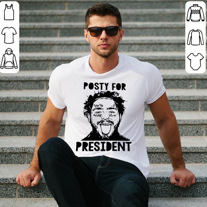 Post Malone posty for president shirt