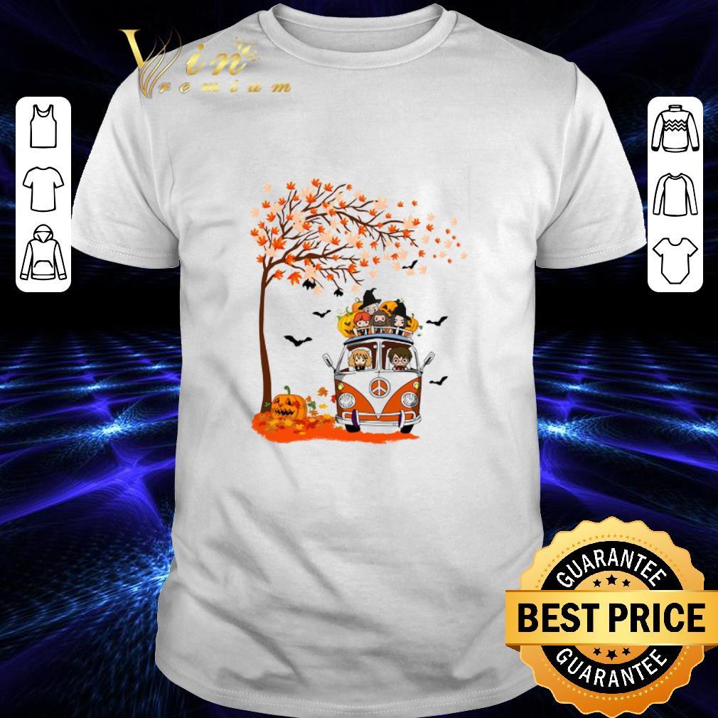 - Premium Harry Potter characters hippie car autumn leaf tree shirt