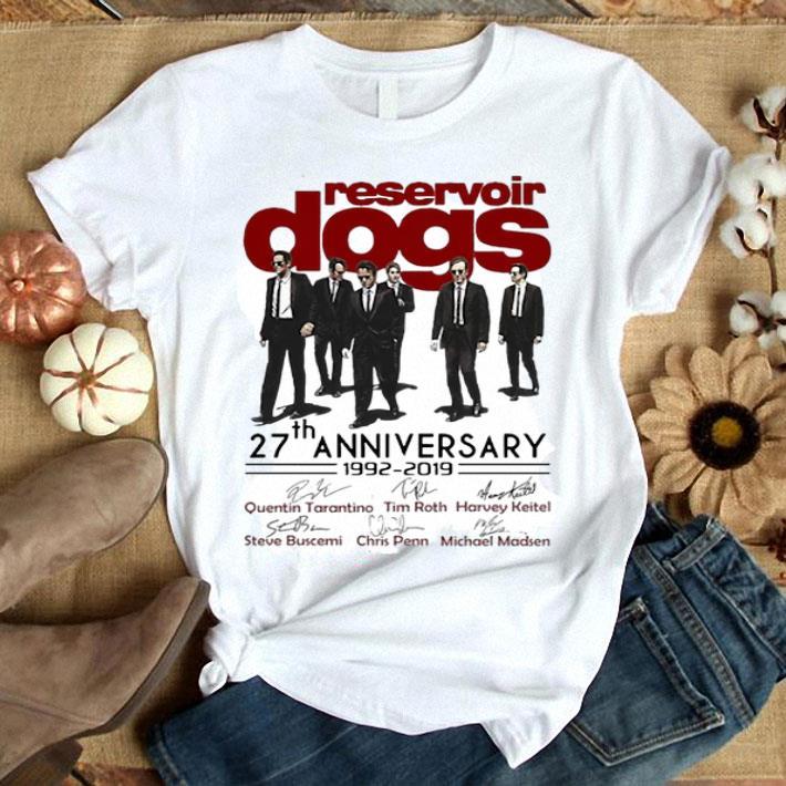- Reservoir dogs 27th anniversary 1992-2019 signatures shirt