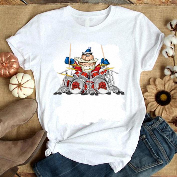 - Santa Claus playing drummer shirt