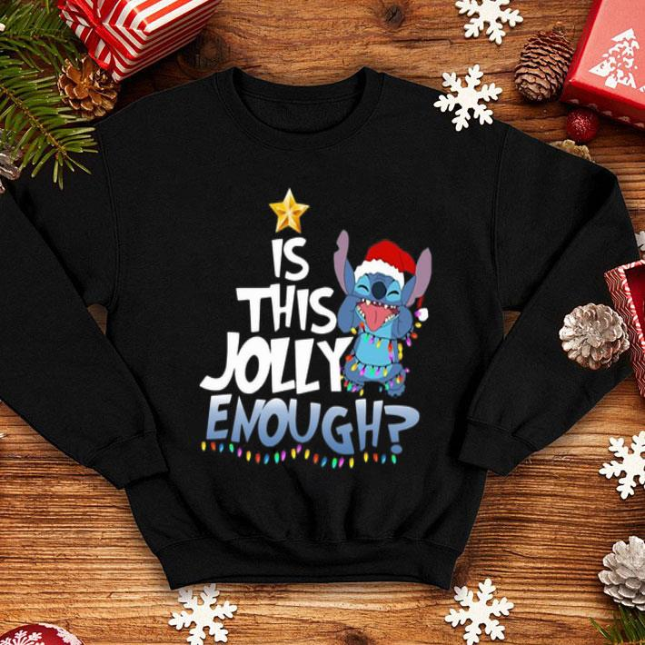 - Stitch Santa is this Jolly enough Christmas lights shirt
