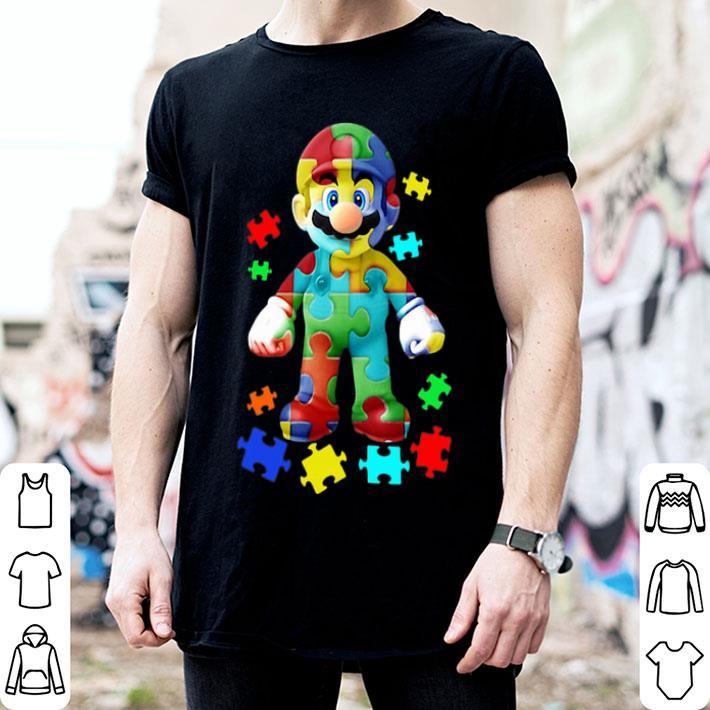 - Super Mario Autism Puzzle shirt