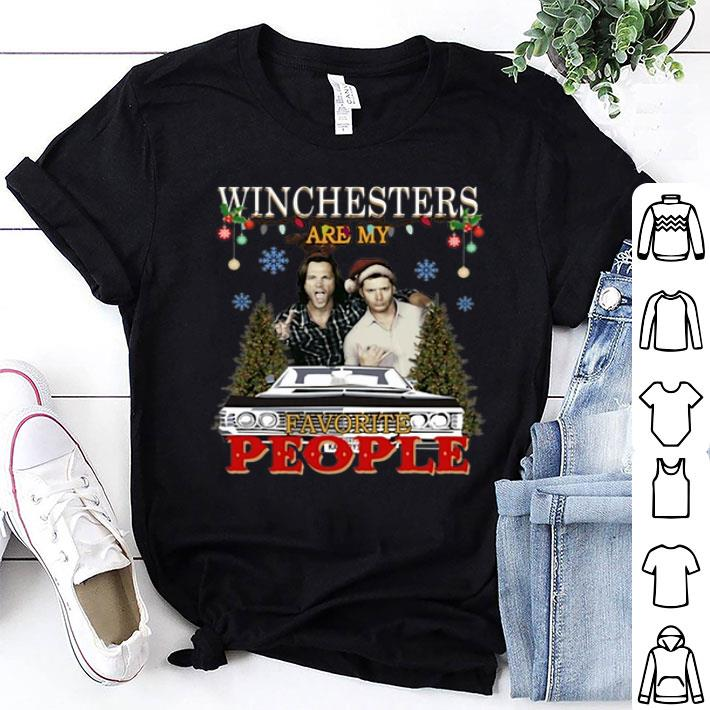 - Supernatural Winchesters are my favorite people Christmas shirt