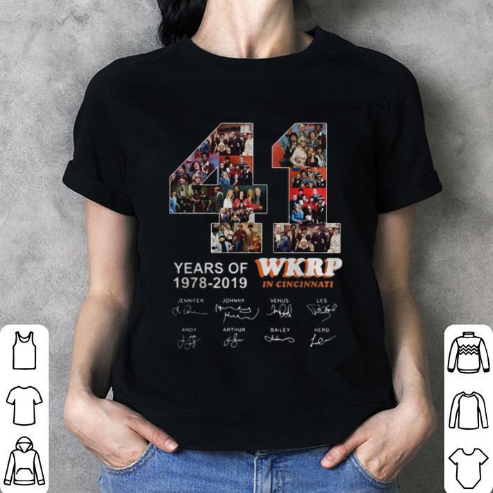 Thanksgiving 41 Years Of Wkrp In Cincinnati 1978-2019 Signatures shirt