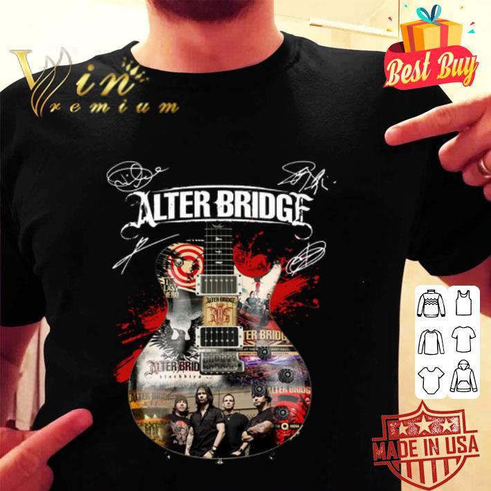- Alter Bridge guitarist signatures shirt