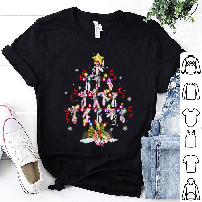 - Ballet shoes Christmas tree shirt