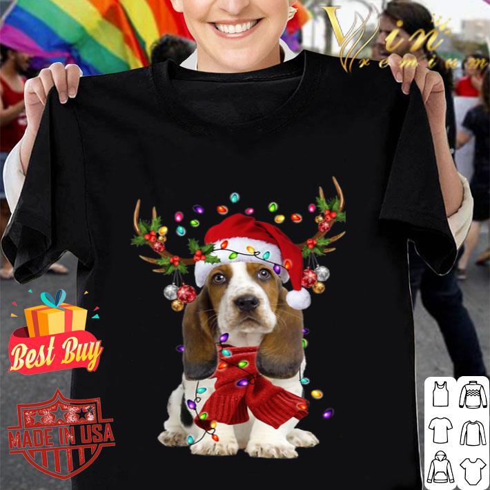 - Basset Hound Reindeer Christmas shirt