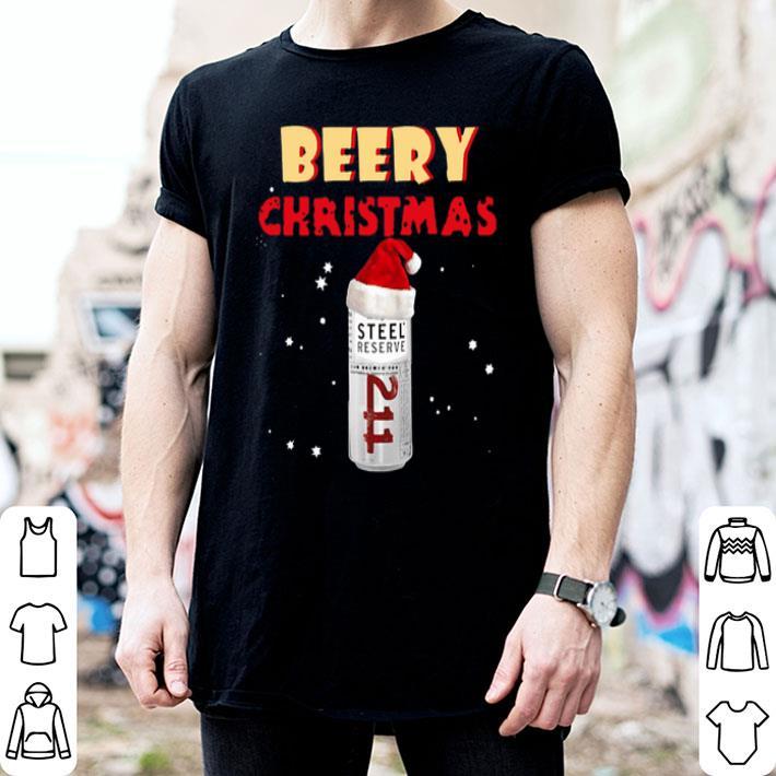 - Beery Christmas Steel Reserve Beer shirt