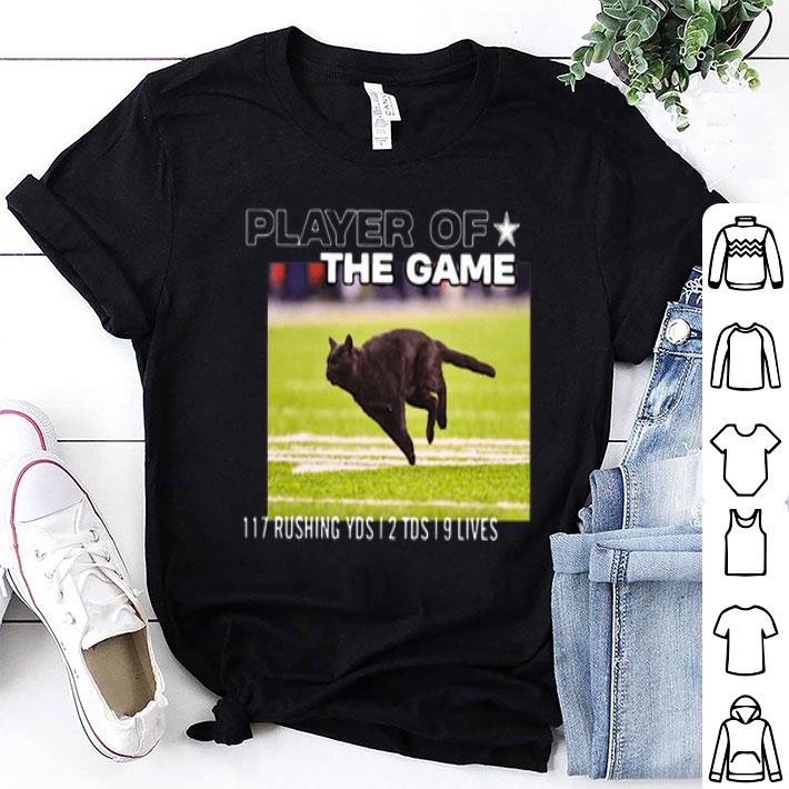 - Cat player of the game 117 rushing yds 2 tds 9 lives shirt